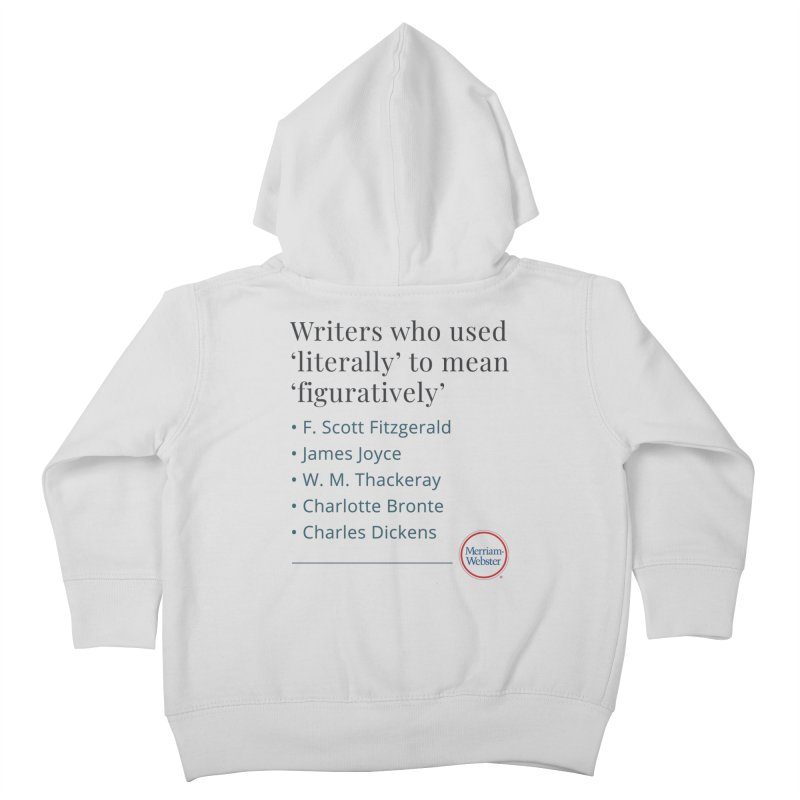 Literally Kids Toddler Zip-Up Hoody by Merriam-Webster Dictionary