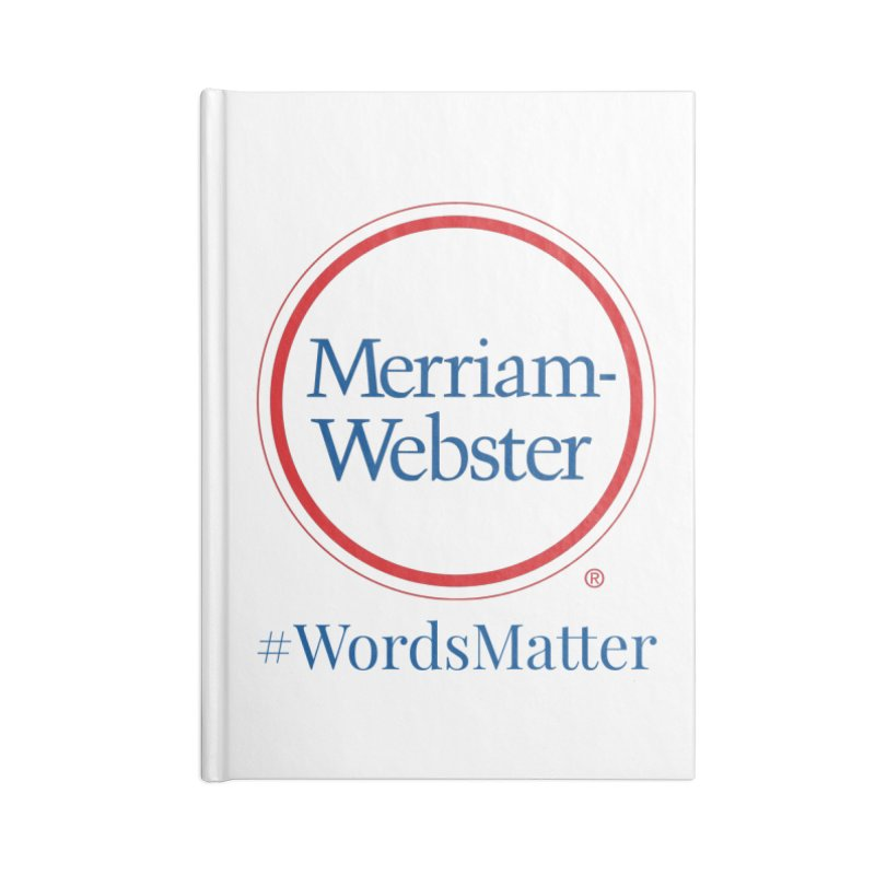 WordsMatter Accessories Blank Journal Notebook by Merriam-Webster Dictionary