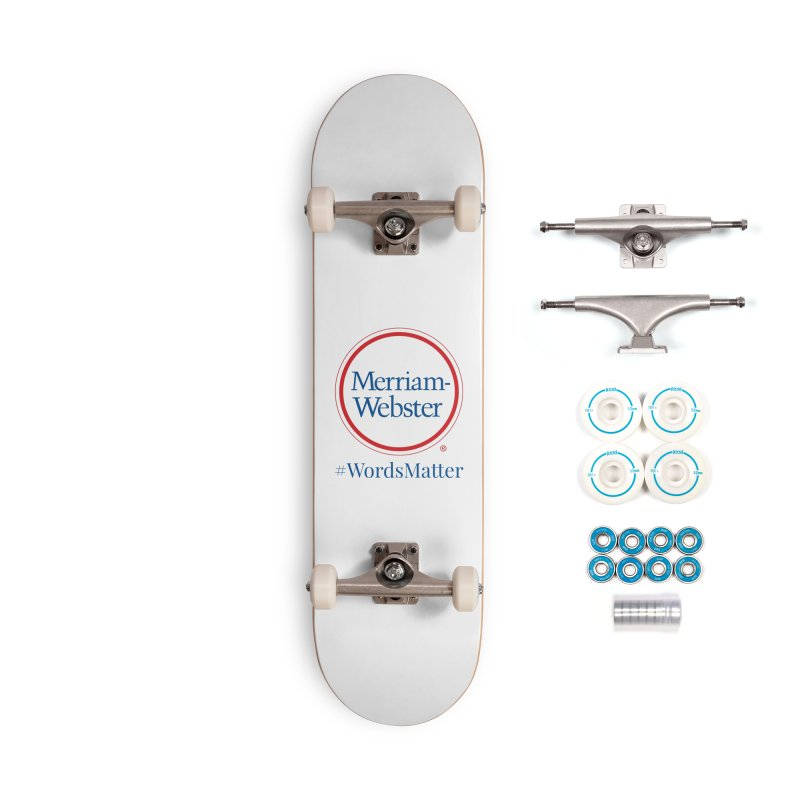 WordsMatter Accessories Complete - Basic Skateboard by Merriam-Webster Dictionary
