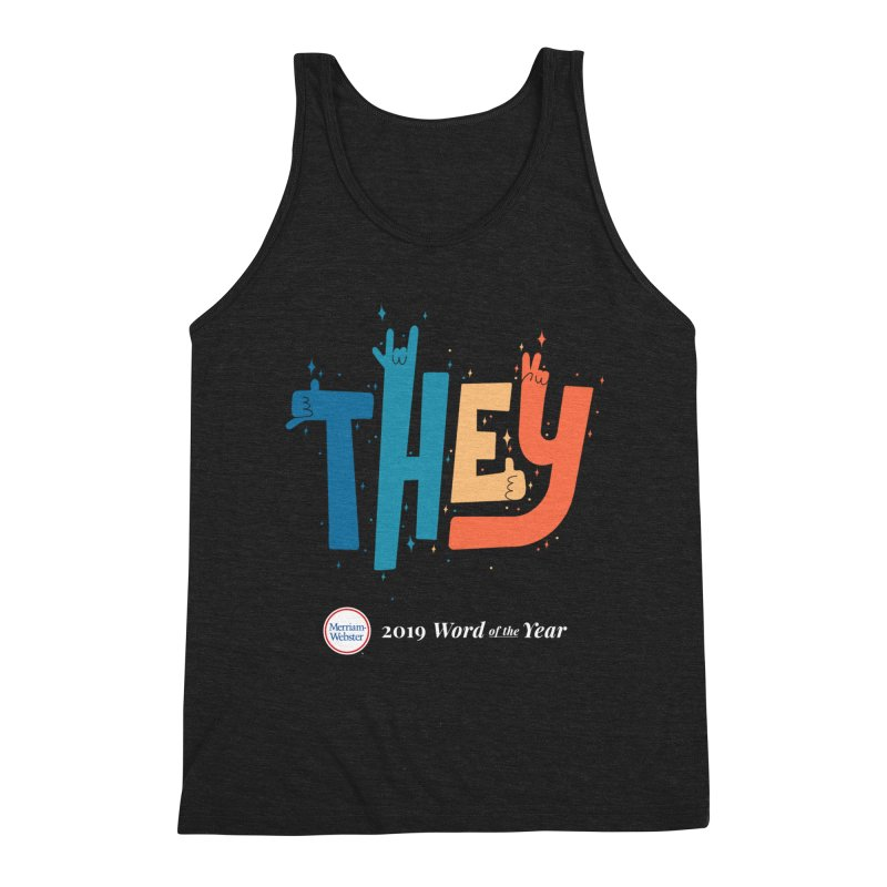 THEY ROCKS Men's Triblend Tank by Merriam-Webster Dictionary