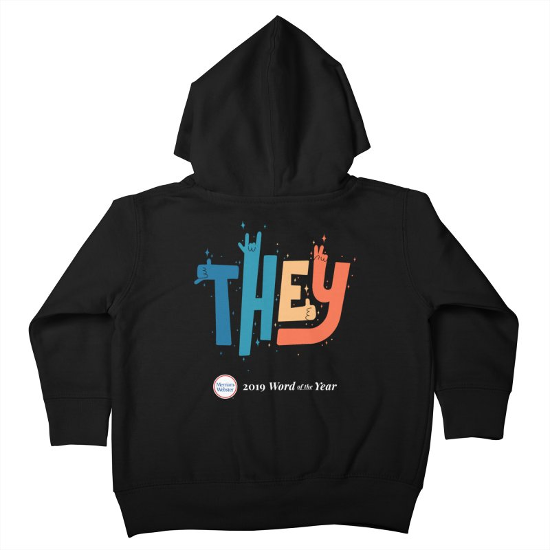 THEY ROCKS Kids Toddler Zip-Up Hoody by Merriam-Webster Dictionary