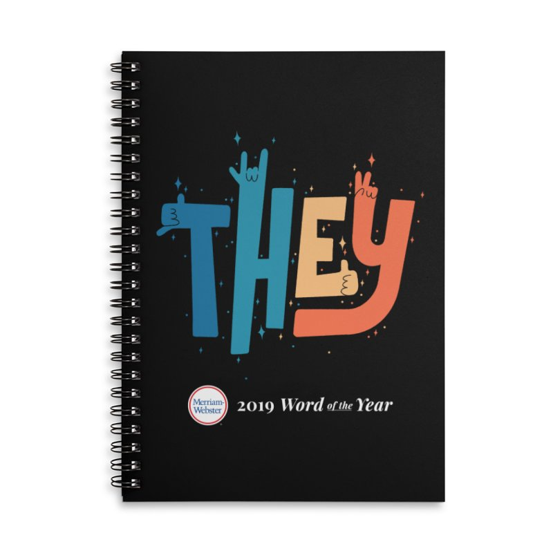 THEY ROCKS Accessories Lined Spiral Notebook by Merriam-Webster Dictionary