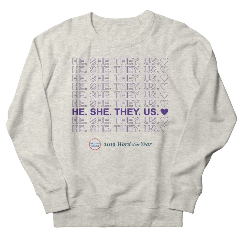 ALL TOGETHER Men's French Terry Sweatshirt by Merriam-Webster Dictionary