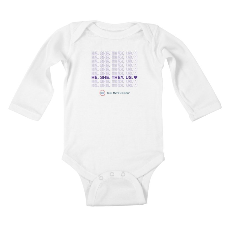 ALL TOGETHER Kids Baby Longsleeve Bodysuit by Merriam-Webster Dictionary