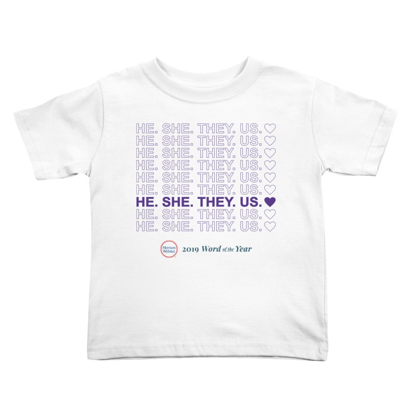 ALL TOGETHER Kids Toddler T-Shirt by Merriam-Webster Dictionary