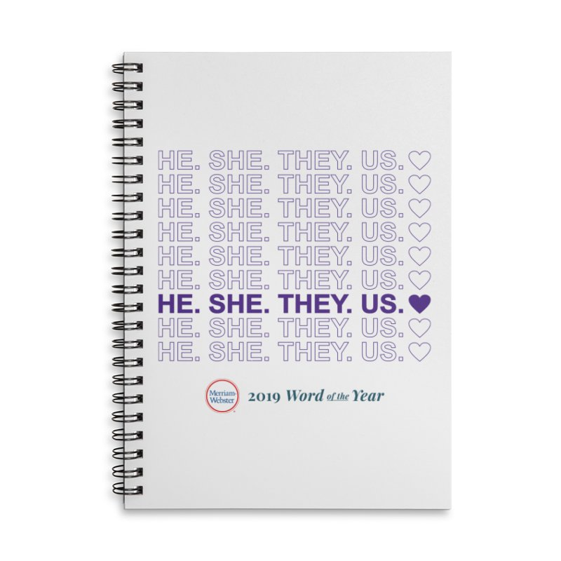 ALL TOGETHER Accessories Lined Spiral Notebook by Merriam-Webster Dictionary