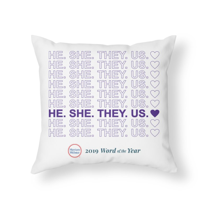 ALL TOGETHER Home Throw Pillow by Merriam-Webster Dictionary