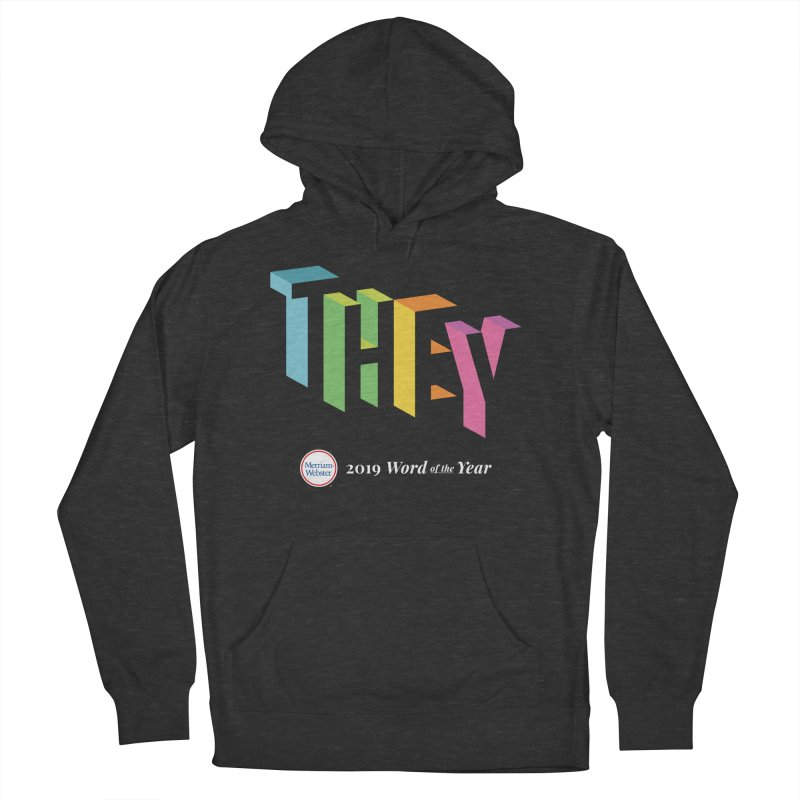 THEY LETRAS Men's French Terry Pullover Hoody by Merriam-Webster Dictionary
