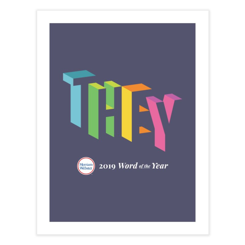 THEY LETRAS Home Fine Art Print by Merriam-Webster Dictionary