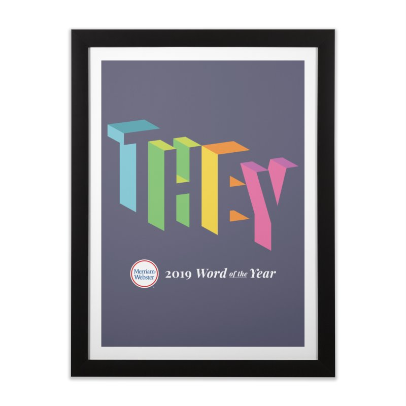 THEY LETRAS Home Framed Fine Art Print by Merriam-Webster Dictionary