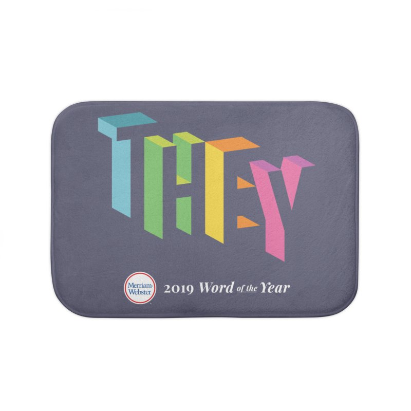 THEY LETRAS Home Bath Mat by Merriam-Webster Dictionary
