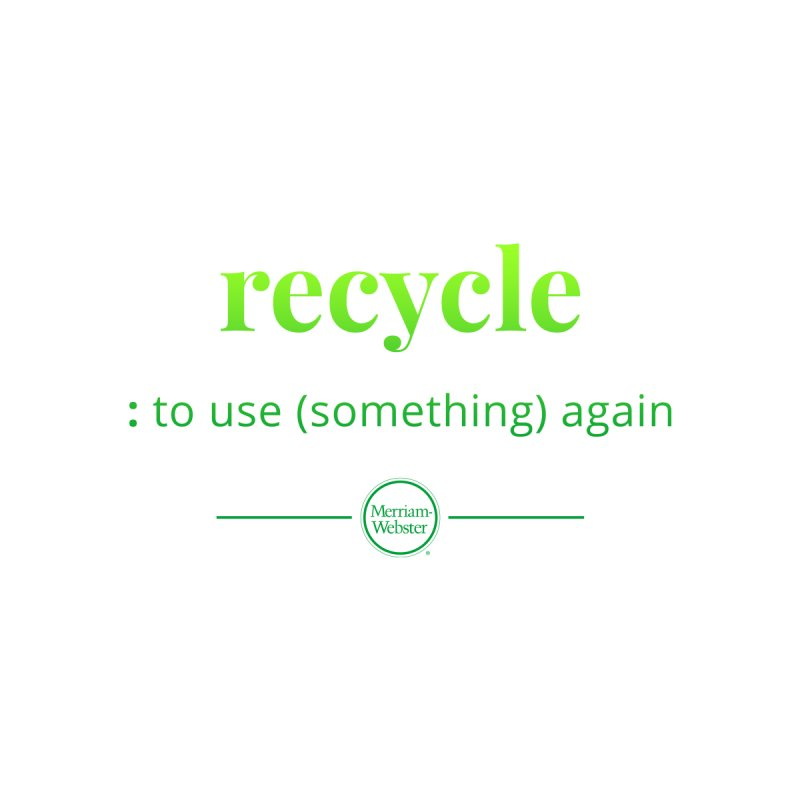 Recycle Accessories Bag by Merriam-Webster Dictionary