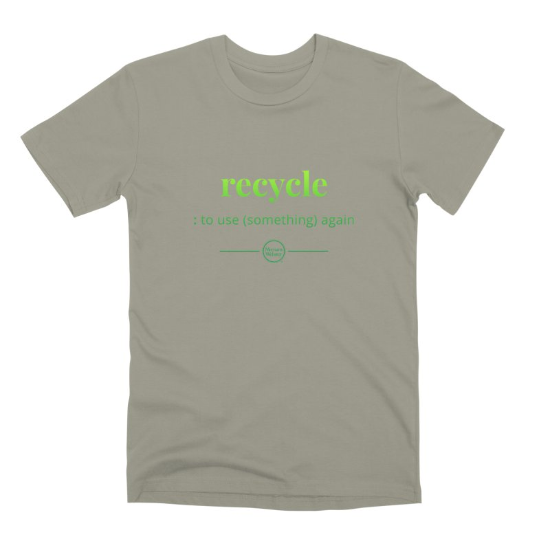 Recycle Men's Premium T-Shirt by Merriam-Webster Dictionary