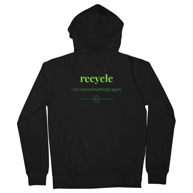 Recycle Men's French Terry Zip-Up Hoody by Merriam-Webster Dictionary