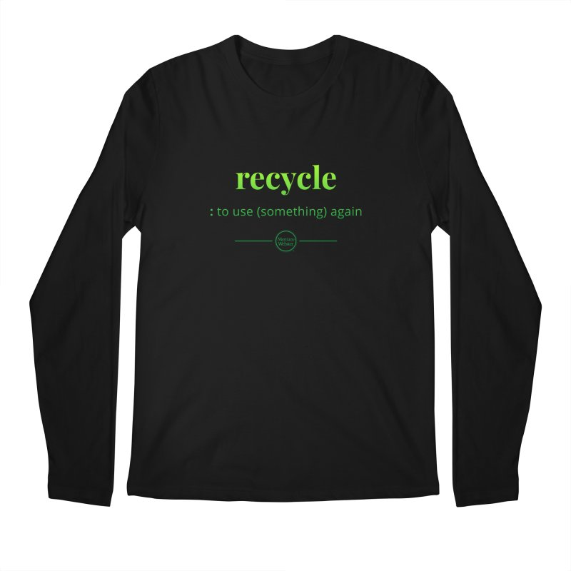 Recycle Men's Regular Longsleeve T-Shirt by Merriam-Webster Dictionary