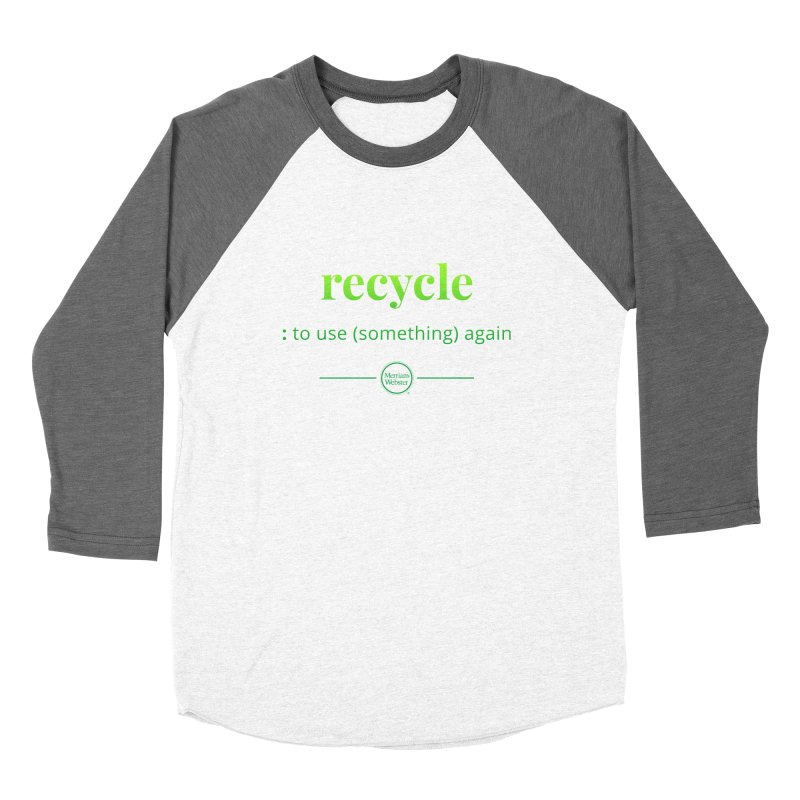 Recycle Men's Baseball Triblend Longsleeve T-Shirt by Merriam-Webster Dictionary
