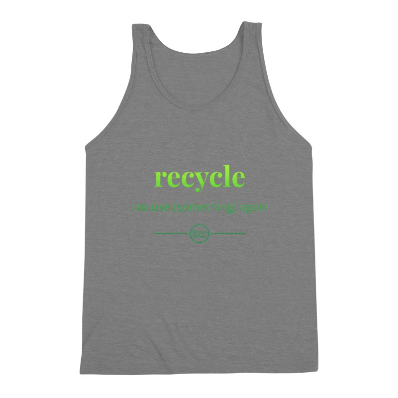 Recycle Men's Triblend Tank by Merriam-Webster Dictionary
