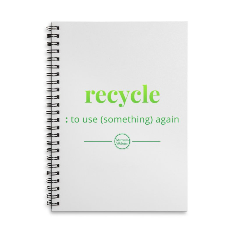 Recycle Accessories Lined Spiral Notebook by Merriam-Webster Dictionary