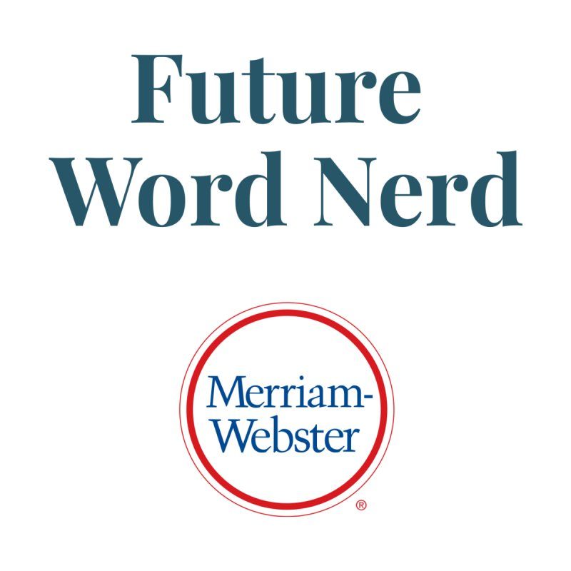 Future Word Nerd (full color) Kids Toddler T-Shirt by Merriam-Webster Dictionary