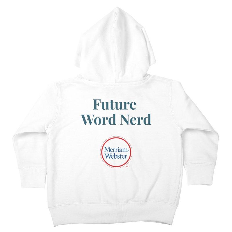 Future Word Nerd (full color) Kids Toddler Zip-Up Hoody by Merriam-Webster Dictionary