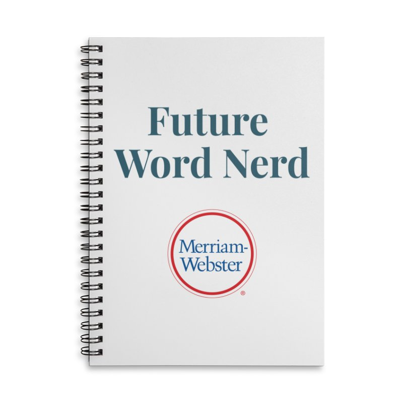 Future Word Nerd (full color) Accessories Lined Spiral Notebook by Merriam-Webster Dictionary