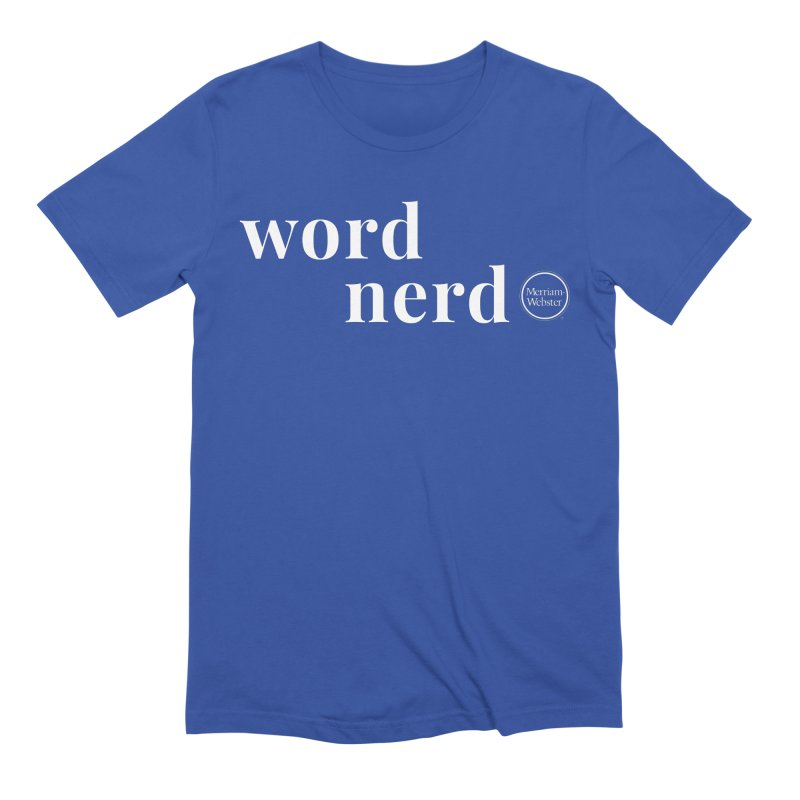 Word Nerd Men's Extra Soft T-Shirt by Merriam-Webster Dictionary