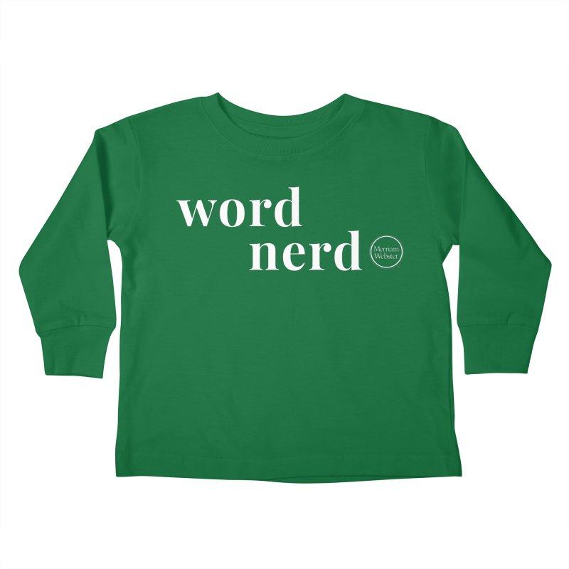 Word Nerd Kids Toddler Longsleeve T-Shirt by Merriam-Webster Dictionary