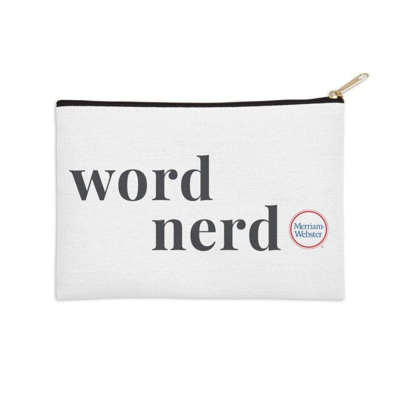 Word Nerd (full color) Accessories Zip Pouch by Merriam-Webster Dictionary