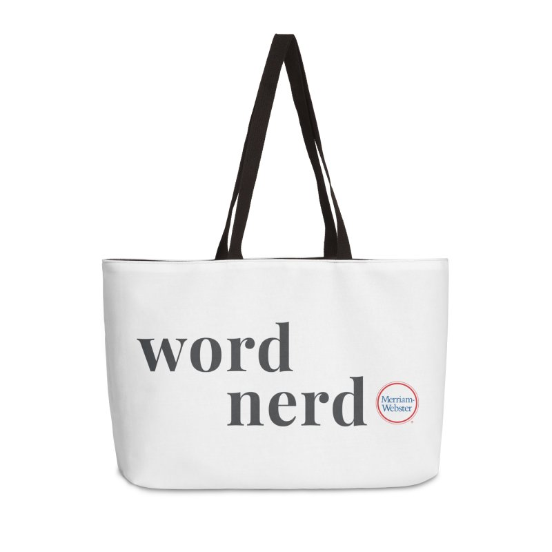 Word Nerd (full color) Accessories Weekender Bag Bag by Merriam-Webster Dictionary