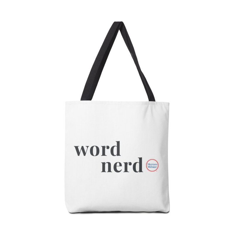 Word Nerd (full color) Accessories Tote Bag Bag by Merriam-Webster Dictionary