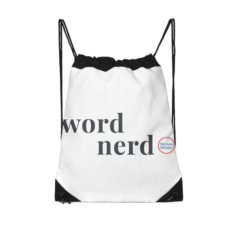 Word Nerd (full color) Accessories Drawstring Bag Bag by Merriam-Webster Dictionary