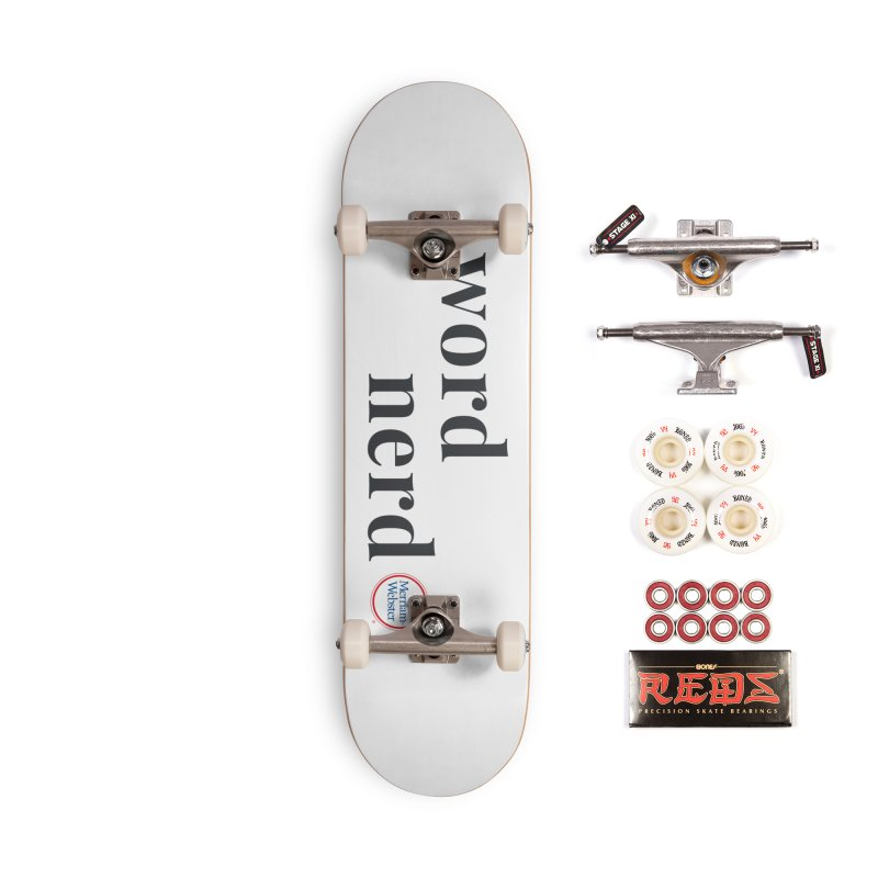 Word Nerd (full color) Accessories Complete - Pro Skateboard by Merriam-Webster Dictionary