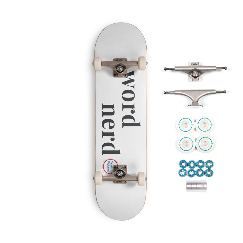 Word Nerd (full color) Accessories Complete - Basic Skateboard by Merriam-Webster Dictionary