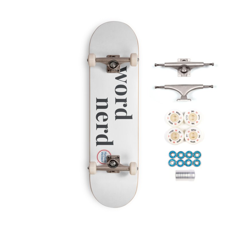 Word Nerd (full color) Accessories Complete - Premium Skateboard by Merriam-Webster Dictionary