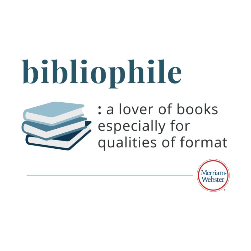 Bibliophile (full color) Accessories Phone Case by Merriam-Webster Dictionary