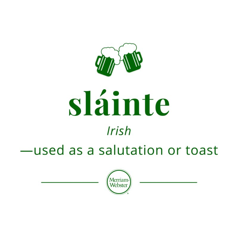 Sláinte (dark green) Women's V-Neck by Merriam-Webster Dictionary