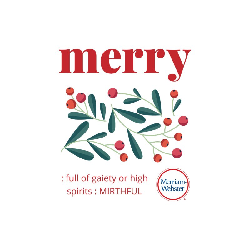 Merry Women's V-Neck by Merriam-Webster Dictionary