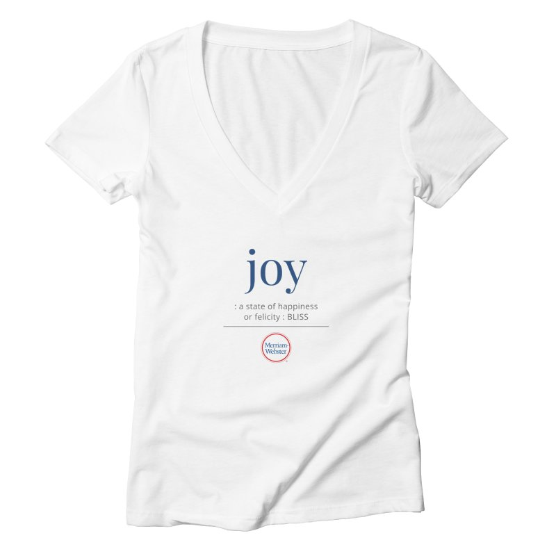 Joy Women's V-Neck by Merriam-Webster Dictionary
