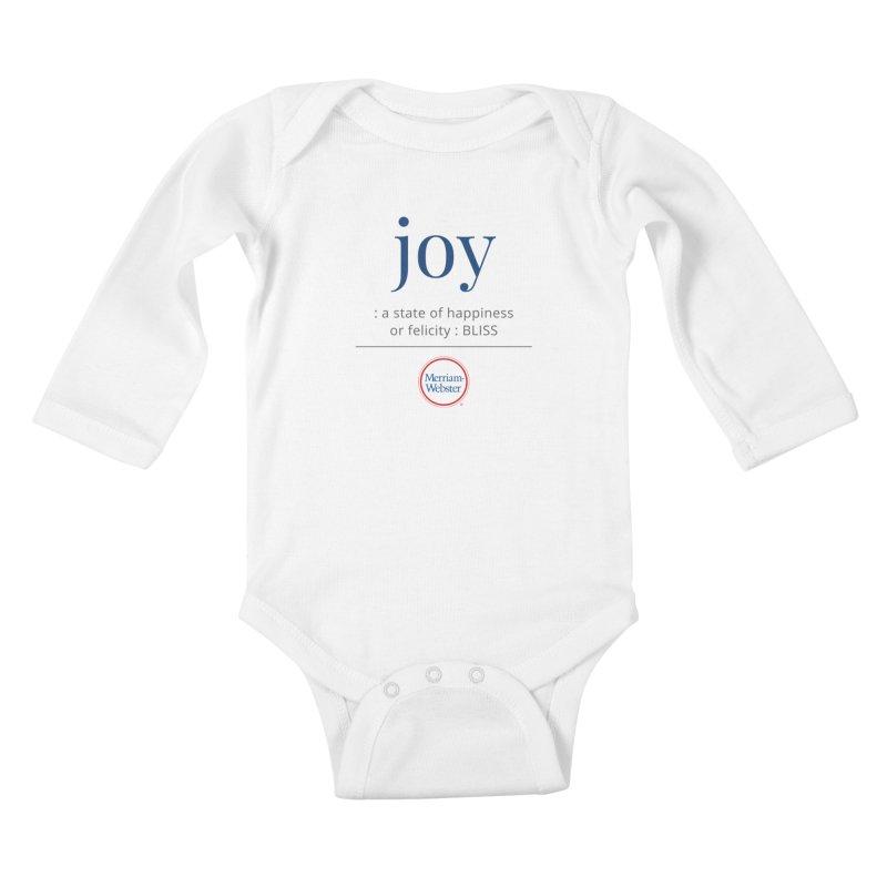 Joy Kids Baby Longsleeve Bodysuit by Merriam-Webster Dictionary