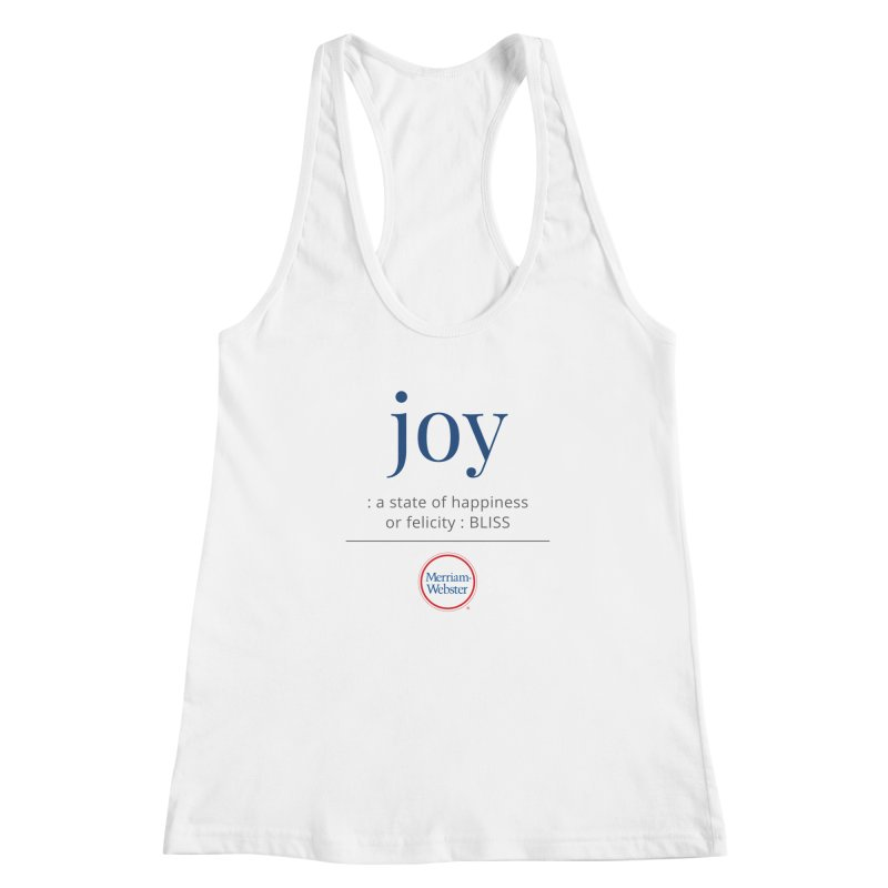 Joy Women's Tank by Merriam-Webster Dictionary