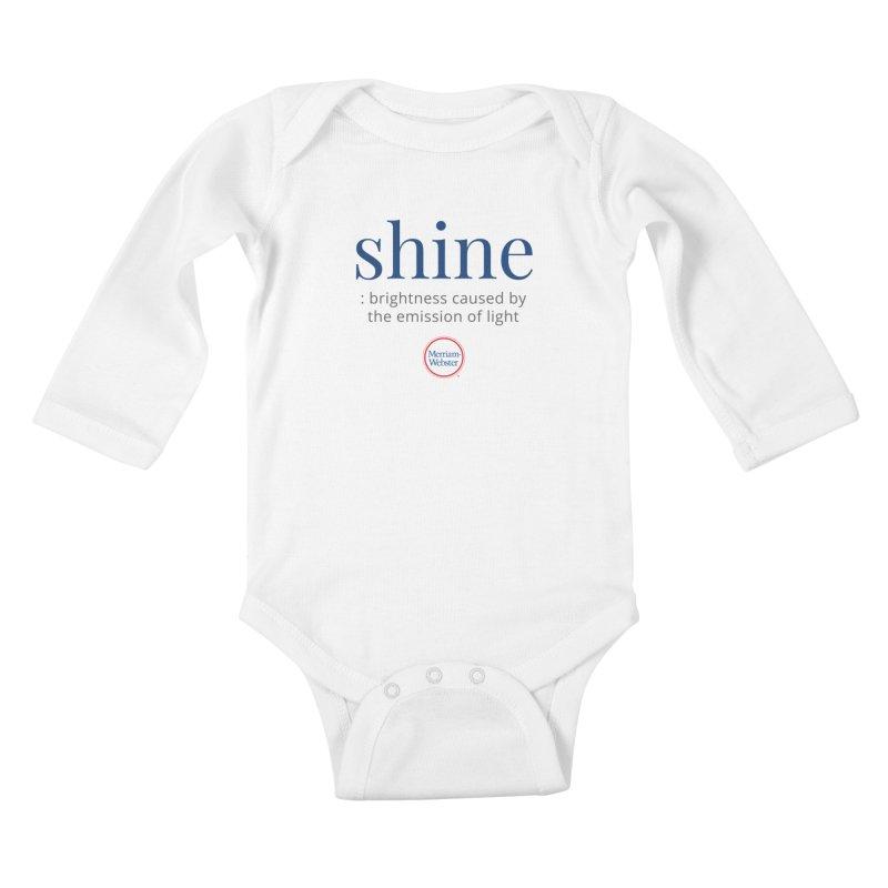Shine Kids Baby Longsleeve Bodysuit by Merriam-Webster Dictionary