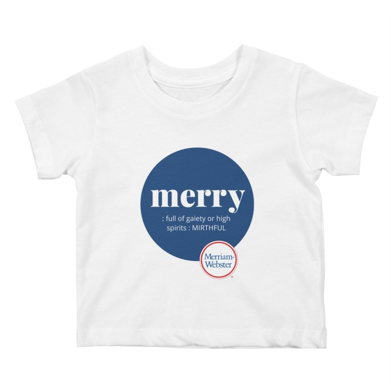 Merry #2 Kids Baby T-Shirt by Merriam-Webster Dictionary