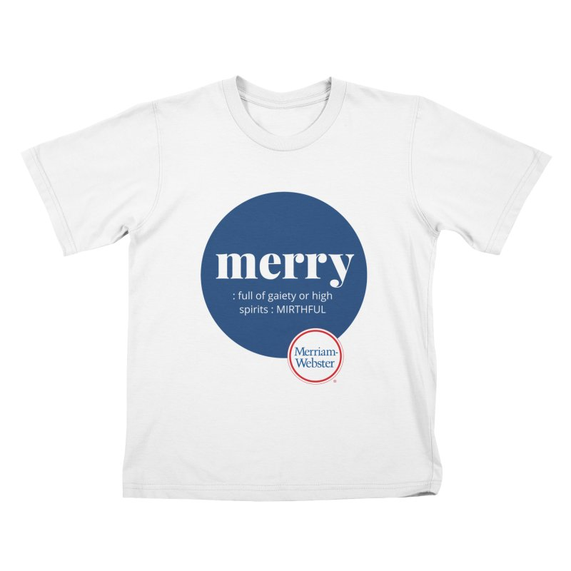 Merry #2 Kids T-Shirt by Merriam-Webster Dictionary