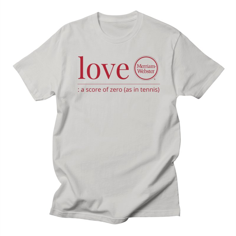 Love (Red) Men's T-Shirt by Merriam-Webster Dictionary