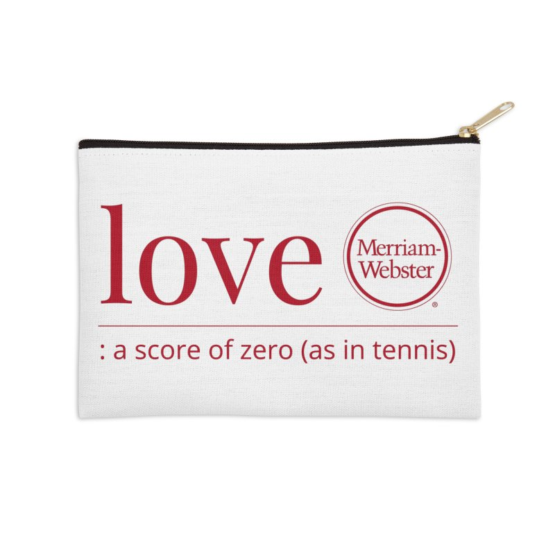 Love (Red) Accessories Zip Pouch by Merriam-Webster Dictionary