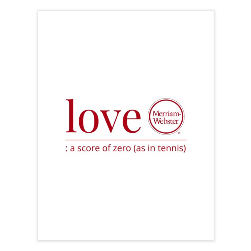Love (Red) Home Fine Art Print by Merriam-Webster Dictionary