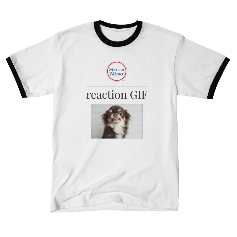 Reaction GIF Men's T-Shirt by Merriam-Webster Dictionary