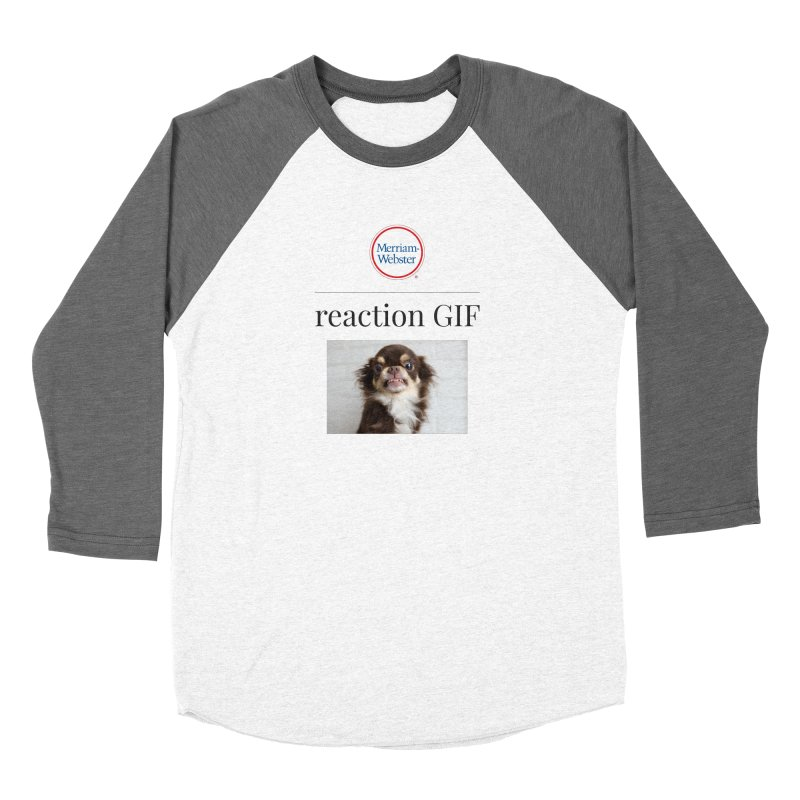 Reaction GIF Women's Longsleeve T-Shirt by Merriam-Webster Dictionary