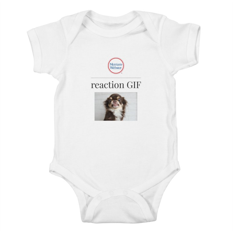 Reaction GIF Kids Baby Bodysuit by Merriam-Webster Dictionary