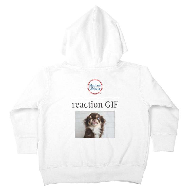 Reaction GIF Kids Toddler Zip-Up Hoody by Merriam-Webster Dictionary
